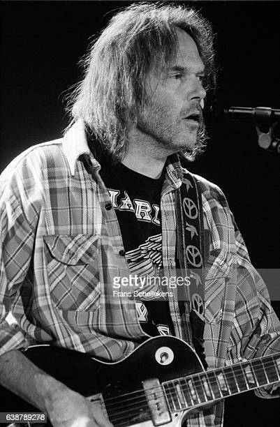 Neil Young, guitar and vocals, performs on July 5th 1993 at Ahoy in Rotterdam, Netherlands.