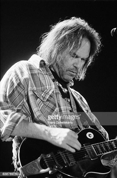 Neil Young guitar and vocals performs on July 5th 1993 at Ahoy in Rotterdam Netherlands