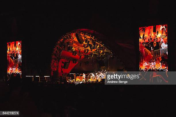 Neil Young of Neil Young Promise Of The Real performs on the Orange stage during Roskilde Festival 2016 on July 1 2016 in Roskilde Denmark