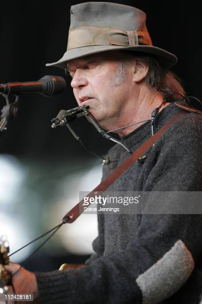 Neil Young opens the show during 19th Annual Bridge School Benefit Concert - Day One at Shoreline Amphitheatre in Mountain View, California, United...