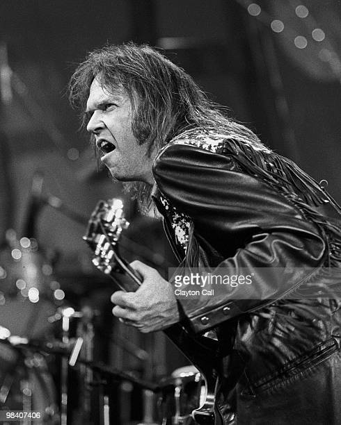 Neil Young performing at the Bay Area Music Awards in San Francisco on March 17 1990