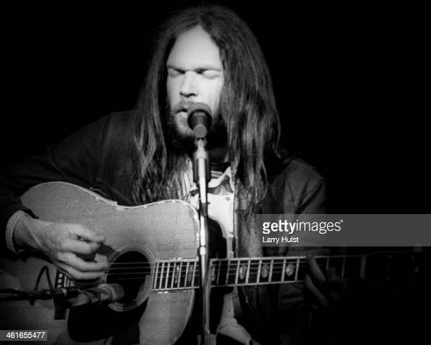Neil Young performing at 'The Prisoners Benefit' at Winterland Auditorium in San Francisco California on May 24 1978