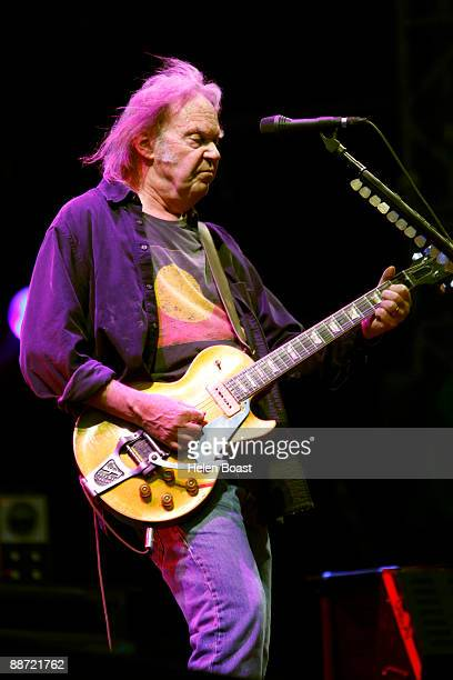 Neil Young performs at day 2 of the Hard Rock Calling at Hyde Park on June 27 2009 in London England