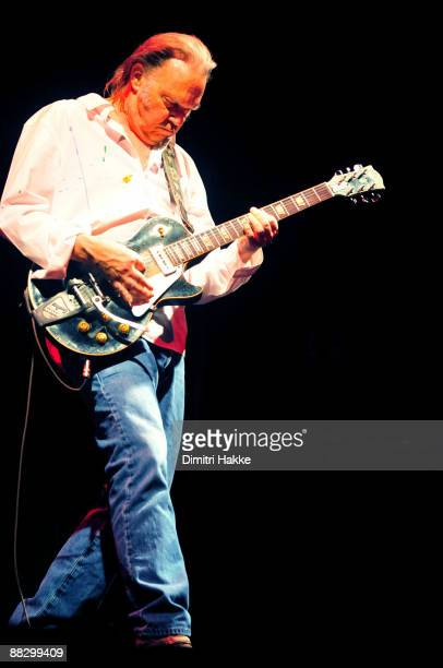 Neil Young performs on stage at Ahoy on June 7, 2009 in Rotterdam, Netherlands.