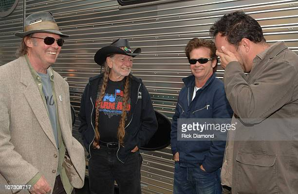 Neil Young Willie Nelson John Mellencamp and Dave Matthews