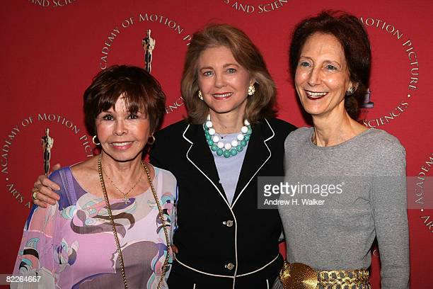 Neile Adams Maria Cooper Janis and Vera Fairbanks attend Monday Nights With Oscar presentation of Hollywood Home Movies on August 11 2008 in New York...