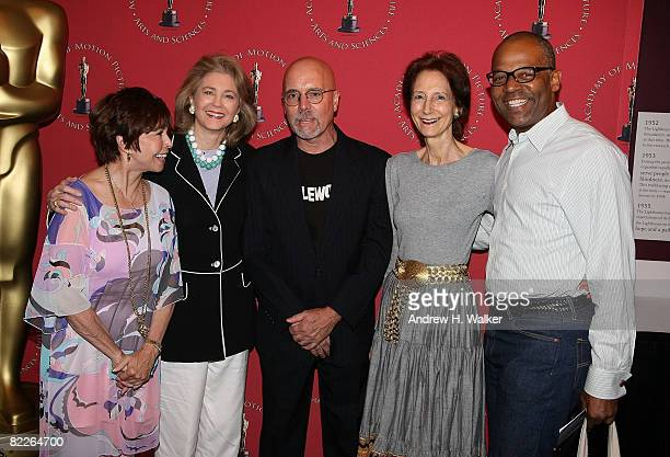 Neile Adams Maria Cooper Janis Robert Coe Vera Fairbanks and Patrick Harrison attend Monday Nights With Oscar presentation of Hollywood Home Movies...