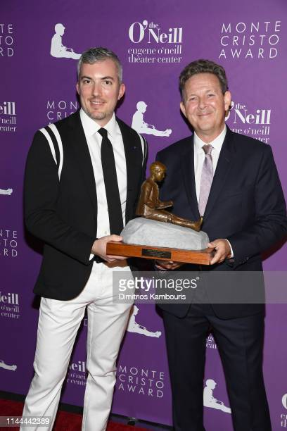 Neill Executive Director Preston Whiteway and Honoree John Logan attend 19th Annual Monte Cristo Awardat Edison Ballroom on April 22 2019 in New York...