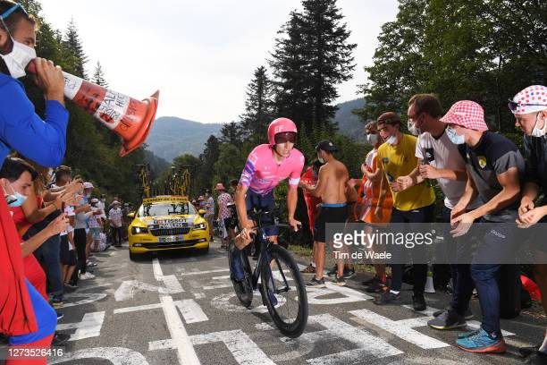Neilson Powless of The United States and Team EF Pro Cycling / Fans / Public / during the 107th Tour de France 2020, Stage 20 a 36,2km Individual...