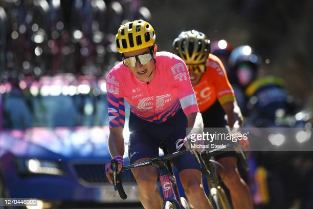 Neilson Powless of The United States and Team EF Pro Cycling / Greg Van Avermaet of Belgium and CCC Team / during the 107th Tour de France 2020,...