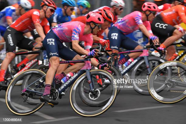 Neilson Powless of The United States Team EF Pro Cycling / during the 22nd Santos Tour Down Under - Schwalbe Classic a 51km race from Adelaide to...