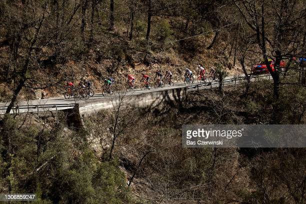 Neilson Powless of United States and Team EF Education - Nippo, Andrey Amador Bikkazakova of Costa Rica and Team INEOS Grenadiers, Laurens De Plus of...
