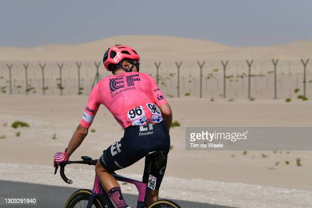 Neilson Powless of United States and Team EF Education-Nippo during the 3rd UAE Tour 2021, Stage 1 a 176km stage from Al Dhafra Castle to Al Mirfa /...