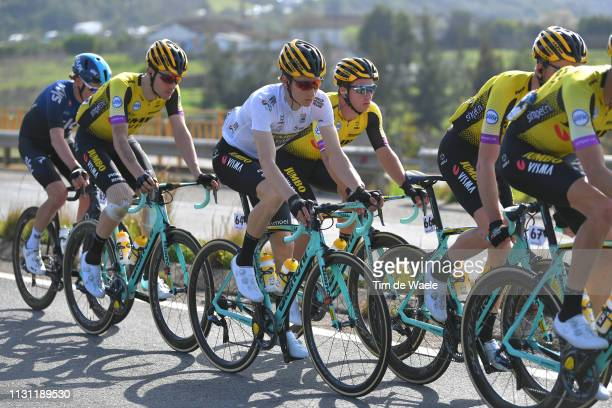 Neilson Powless of United States and Team Jumbo - Visma White Best Young Rider Jersey / during the 45th Volta ao Algarve, Stage 2 a 187,4 km stage...