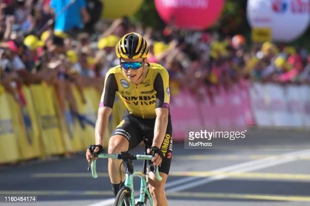 Neilson Powless of USA and Team Jumbo-Visma, takes the second place in the final stage Bukovina Resort to Bukowina Tatrzanska, of the 76th edition of...