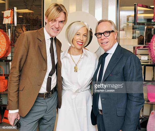 Neiman Marcus SVP/Fahion Director Ken Downing Bergdorf Goodman SVP Linda Fargo and designer Tommy Hilfiger attend the Dee Ocleppo by Dee Hilfiger...