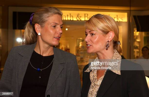 "Neissing store manager Heike Kremser talks with Angeleno Magazine Ad Director Sue Chrispell at the ""Knockout"" Preview Party hosted by Jackie Kallen..."