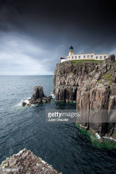 Neist Point Lighthouse and cliff, Neist Point, Isle of Skye, Scotland, UK
