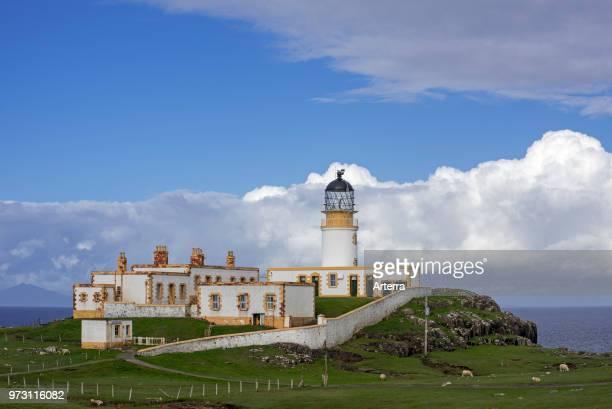 Neist Point Lighthouse on the Isle of Skye Inner Hebrides Scottish Highlands Scotland UK