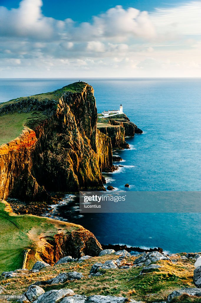 Neist Point lighthouse, Skye, Scotland : Stock Photo