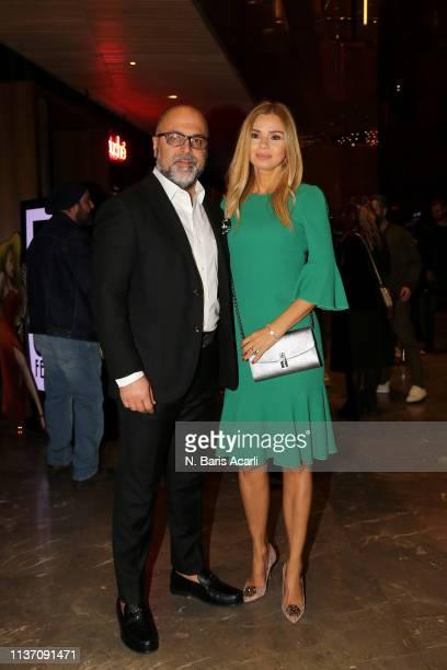 Nejdet Ayaydin and Emel Ayaydin attend the MercedesBenz Fashion Week Istanbul March 2019 at Zorlu Center on March 20 2019 in Istanbul Turkey
