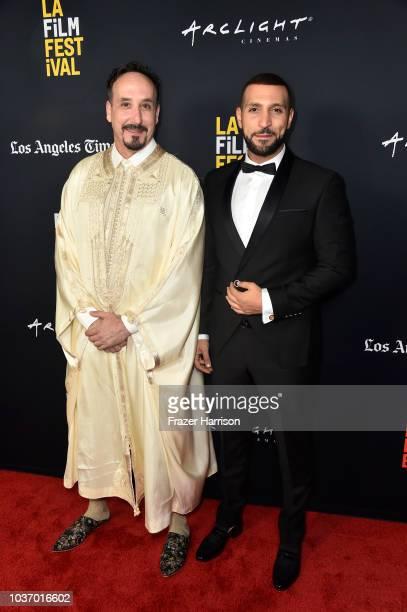 Nejib Belkadhi Nidhal Saadi attend the 2018 LA Film Festival Opening Night Premiere Of 'Echo In The Canyon' at John Anson Ford Amphitheatre on...