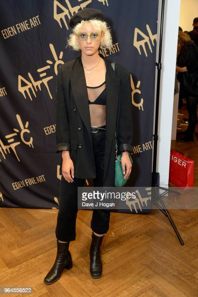 Nejilka attends Alec Monopoly's 'Breaking the Bank on Bond Street' exhibition launch party at the Eden Fine Art Gallery on May 31 2018 in London...