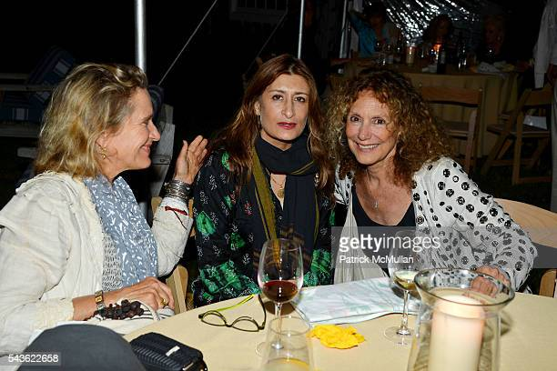 Nejma Beard and Jean Pagliuso attend LANA JOKEL Dinner for PETER BEARD in Honor of his Exhibit at GUILD HALL at Private Residence on June 18 2016 in...