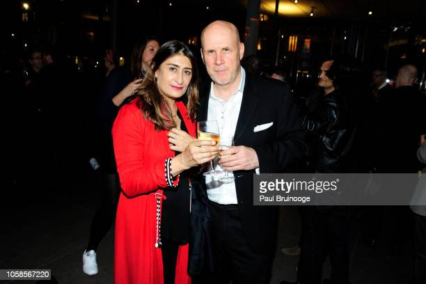 Nejma Beard and John Charles Thomas attend Opening Reception For Andy Warhol From A To B And Back Again Hosted By Calvin Klein at The Whitney Museum...