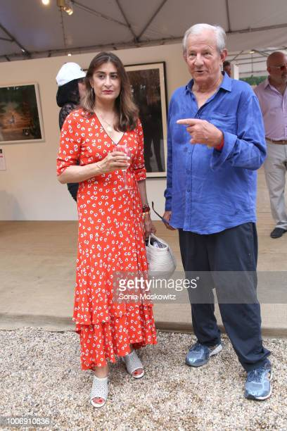 Nejma Beard and Peter Beard attend TIME BOMB The 25th Annual Watermill Center Summer Benefit at The Watermill Center on July 28 2018 in Water Mill...