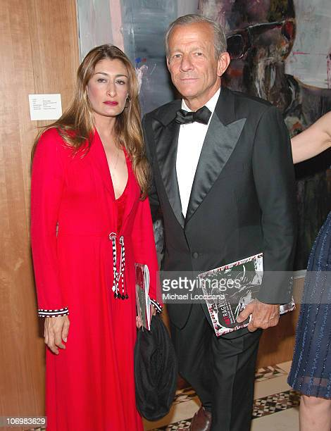 Nejma Beard and Peter Beard during Artrageous Benefit Honoring Peter Beard May 24 2006 at Cipriani 42nd Street in New York City New York United States