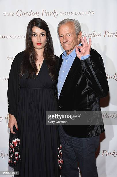 Nejma Beard and photographer Peter Beard attend the 2014 Gordan Parks Foundation Awards Dinner Auction at Cipriani Wall Street on June 3 2014 in New...