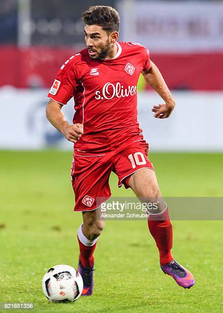 Nejmeddin Daghfous of Wuerzburg during the Second Bundesliga match between FC Wuerzburger Kickers and FC St Pauli at flyeralarm Arena on November 7...
