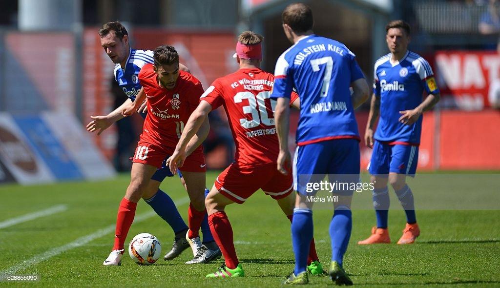 Wuerzburger Kickers v Holstein Kiel  - 3. Liga : News Photo