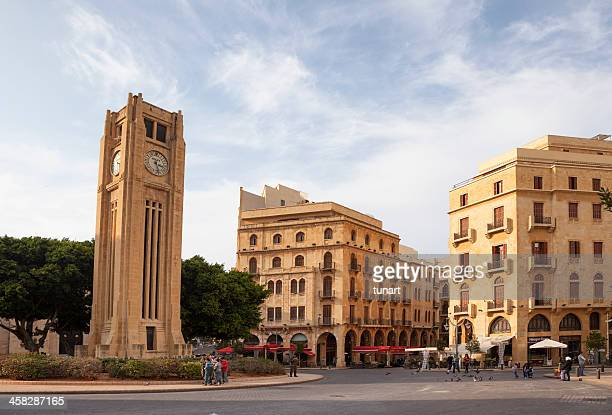 nejmeh square, beirut city center, lebanon - beirut stock pictures, royalty-free photos & images
