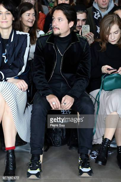 Nekfeu attend sthe Agnes B show as part of the Paris Fashion Week Womenswear Fall/Winter 2018/2019 on March 5 2018 in Paris France