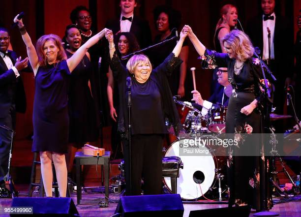Neko Case Mavis Staples and Alison Krauss perform at 'An Evening with Mavis Staples and Special Guests' during the 2018 Kennedy Center Spring Gala at...