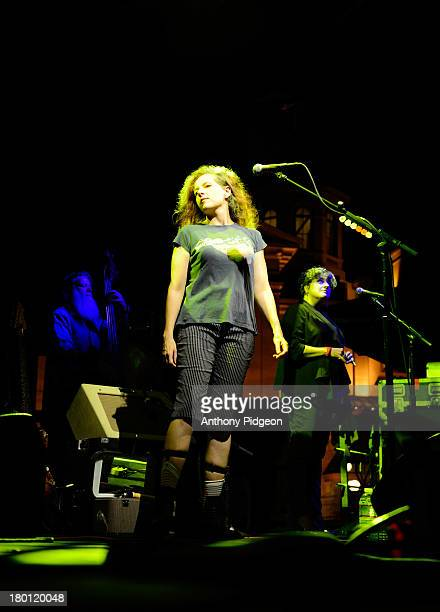 Neko Case performs on stage at Pioneer Square on Day 5 of MusicFest NW at on September 8 2013 in Portland Oregon