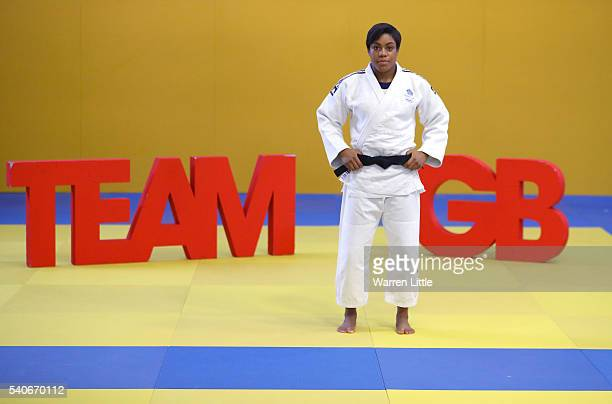 Nekoda Smythe-Davis of Great Britain poses for apicture during an announcement of judo athletes named in Team GB for the Rio 2016 Olympic Games at...