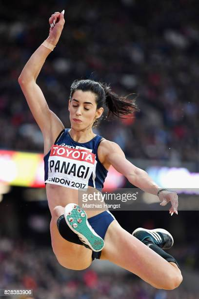 Nektaria Panagi of Cyprus competes in the Women's Long Jump qualification during day six of the 16th IAAF World Athletics Championships London 2017...