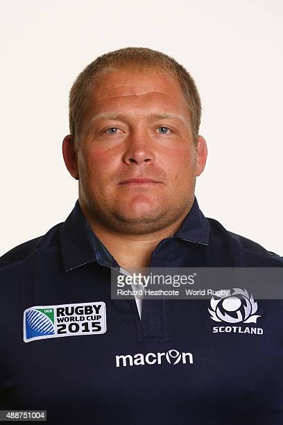 Nel of Scotland during the Scotland Rugby World Cup 2015 squad photo call at the Hilton Puckrup Hall Hotel on September 17 2015 in Tewkesbury England