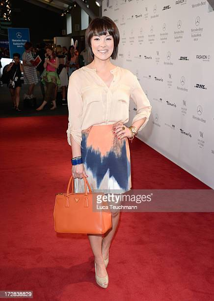 Nela PanghyLee attends the Glaw Show during MercedesBenz Fashion Week Spring/Summer 2014 at Brandenburg Gate on July 5 2013 in Berlin Germany