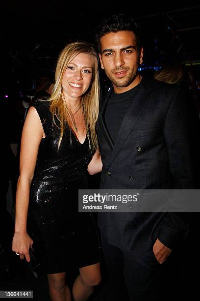 Nele Kiper and actor Elyas M'Barek attend the afterparty to the 'Offroad' premiere at cinema Kulturbrauerei on January 9, 2012 in Berlin, Germany.