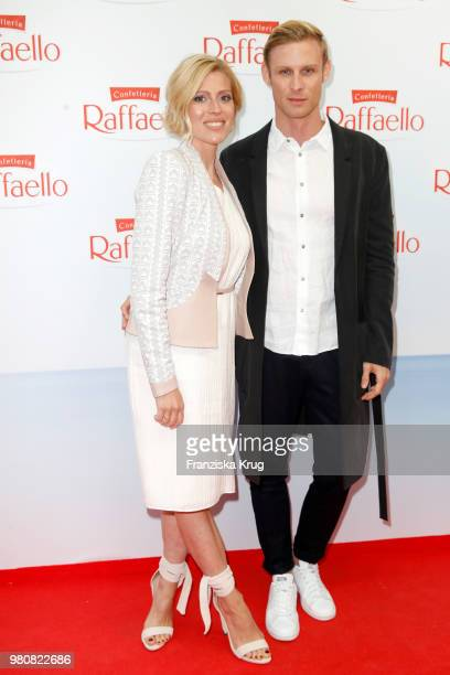 Nele Kiper and guest during the Raffaello Summer Day 2018 to celebrate the 28th anniversary of Raffaello at Villa von der Heydt on June 21, 2018 in...
