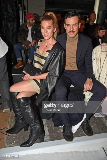 Nele Kiper and Tobias van Dieken attend the KXXK show during Berlin Fashion Week Autumn/Winter 2020 at Kraftwerk Mitte on January 15 2020 in Berlin...