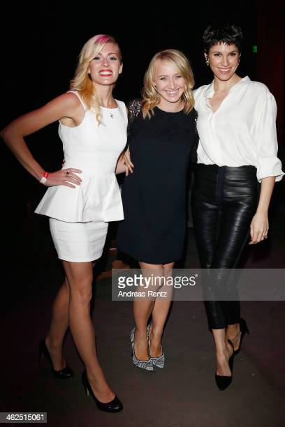 Nele Kiper, Anna Maria Muehe and Jasmin Gerat attend the after show party of the film 'Nicht mein Tag' at Ritter Butzke on January 13, 2014 in...