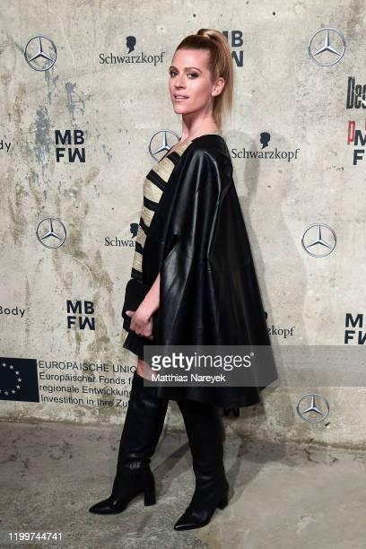 Nele Kiper attends the KXXK show during Berlin Fashion Week Autumn/Winter 2020 at Kraftwerk Mitte on January 15 2020 in Berlin Germany