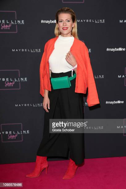 Nele Kiper attends the Maybelline New York show 'Makeup that makes it in New York' during the Berlin Fashion Week Autumn/Winter 2019 at Postbahnhof...