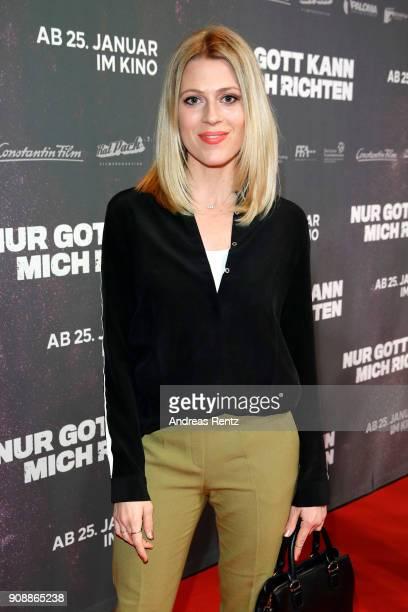 Nele Kiper attends the 'Nur Gott kann mich richten' premiere at CineStar Metropolis on January 22, 2018 in Frankfurt am Main, Germany.