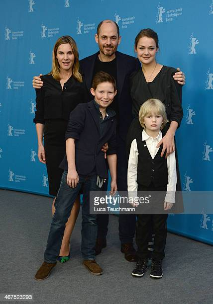 Nele MuellerStöfen Edward Berger Luise Heyer Ivo Pietzcker and Georg Arms attend the 'Jack' photocall during 64th Berlinale International Film...